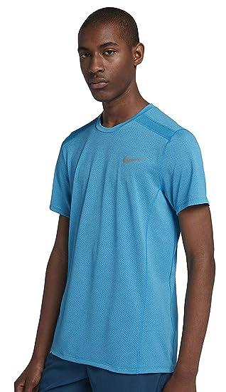 d6c038d6 NIKE Men's Cool Miler Short-Sleeve Running Top (Equator Blue/Heather, XL):  Amazon.co.uk: Clothing