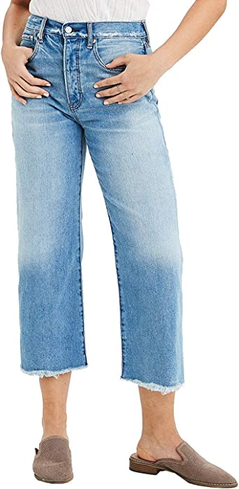Amazon Com American Eagle Womens 1550910 Pantalones Vaqueros De Pierna Ancha Indigo Destenido 4 Clothing