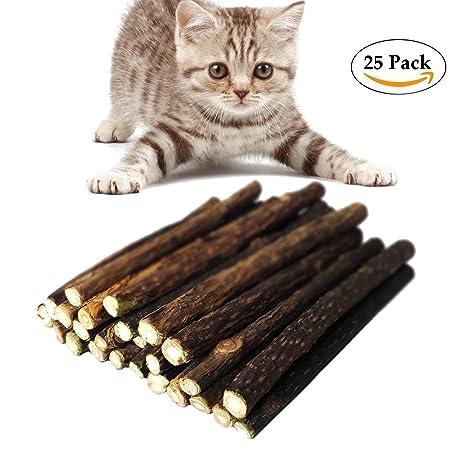 Bwogue gato hierba gatera juguete natural silvervine masticar palos dientes molienda masticar juguete - paquete de