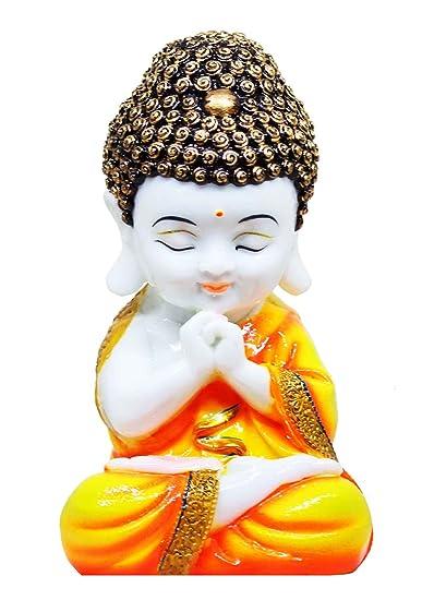 CraftJunction Handcrafted Little Baby Monk Showpiece Figurine(8 * 4.25 * 3.5 inches)