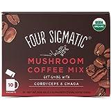 Four Sigmatic 蘑菇咖啡, USDA 认证咖啡 含有冬虫夏草和白桦茸, 素食,传统食物, 10 个