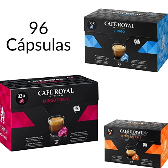 99 Capsulas Nespresso Cafe Royal - Cafe Royal Lungo Forte, Cafe Royal Lungo, Cafe