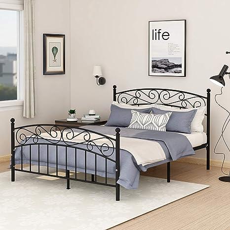 Amazon.com: Marco de cama de plataforma de metal para cama ...