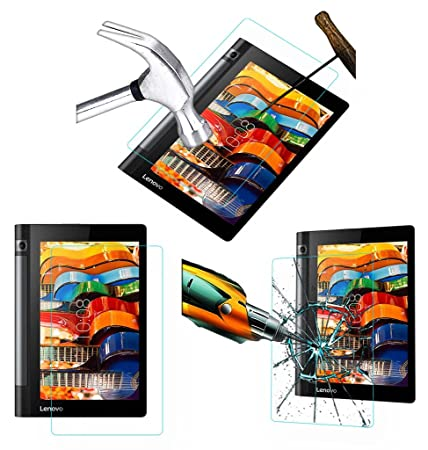 Acm Tempered Glass Screenguard For Lenovo Yoga Tab 2 8.0 Tablet Screen Guard Scratch Protector Screen Protectors