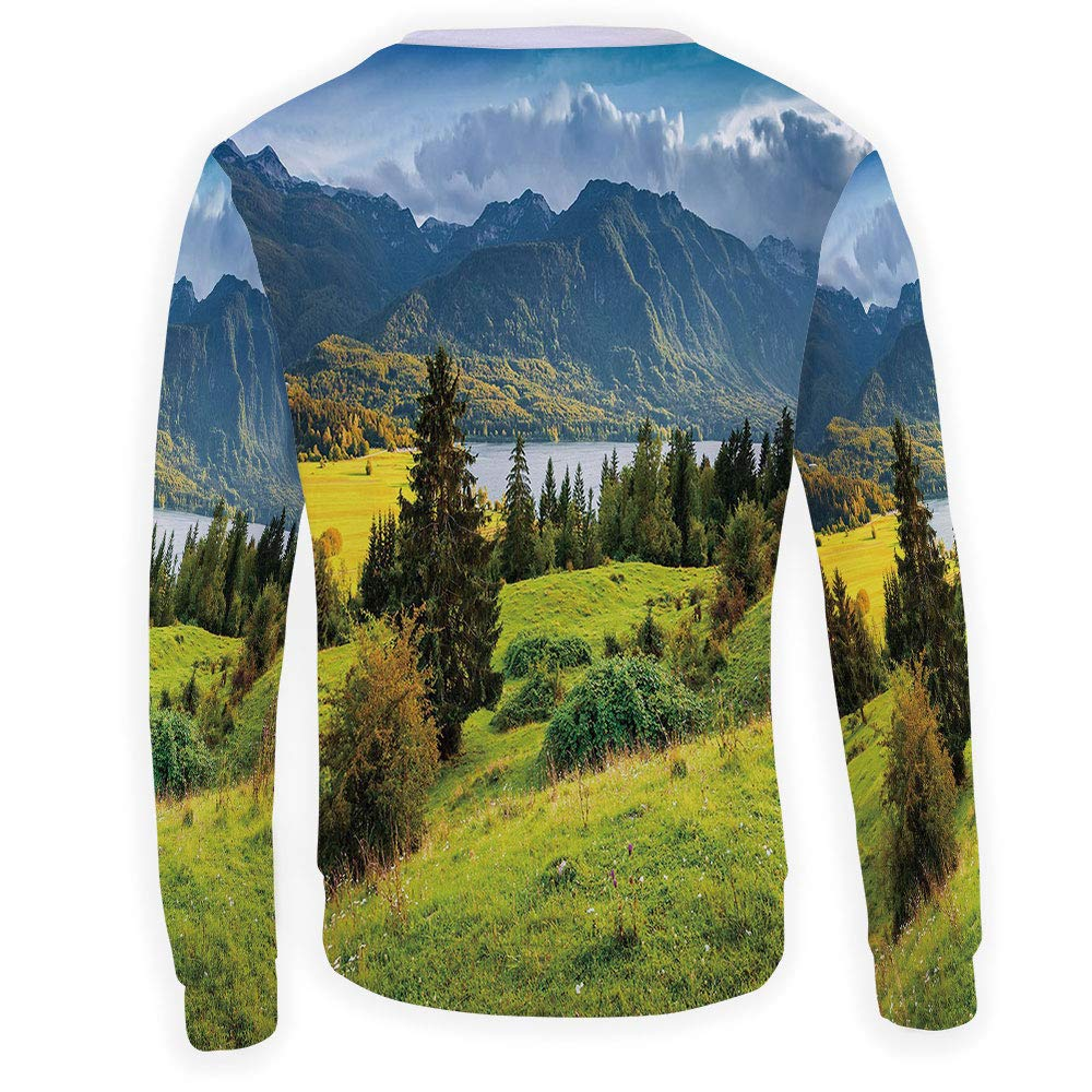 MOOCOM Mens Crewneck Landscape Sweatshirt