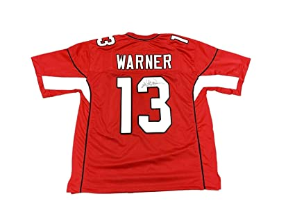 e831911c185e Kurt Warner Arizona Cardinals Home Red Autographed Signed Jersey ...