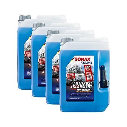 SONAX 4 x 02325050 Xtreme anticongelante (+ Transparente Concentrado Discos Protección contra Heladas 5L