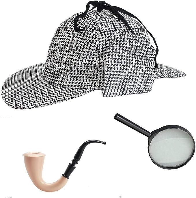 Disfraz de Sherlock Holmes de pata de Detective sombrero con tubo ...