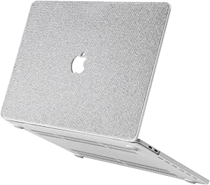 Luxurious Bling Diamond MacBook Case Compatible with 2018-2020 MacBook Air 13 inch A2179 A1932, MacBook Pro 13 inch Case 2016-2020 A2251 A2289 A2159 A1989 A1706 A1708 ,MacBook Pro 13 inch, White