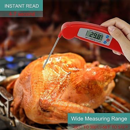 pantalla LCD de lectura instant/ánea ultra precisa con sonda de acero inoxidable para todos los alimentos Naisicatar Term/ómetro digital para cocina cocinas barbacoas dulces y agua de ba/ño