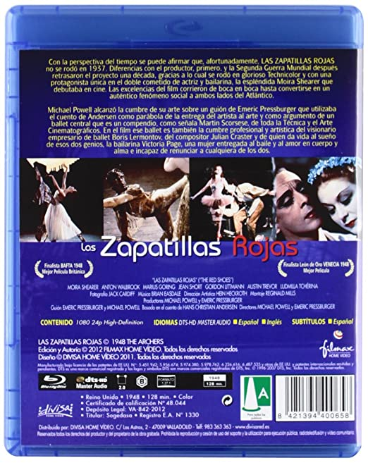 Amazon.com: Las Zapatillas Rojas (Blu-Ray) (Import Movie) (European Format - Zone B2) (2012) Moira Shearer; Anton Walbrook: Movies & TV