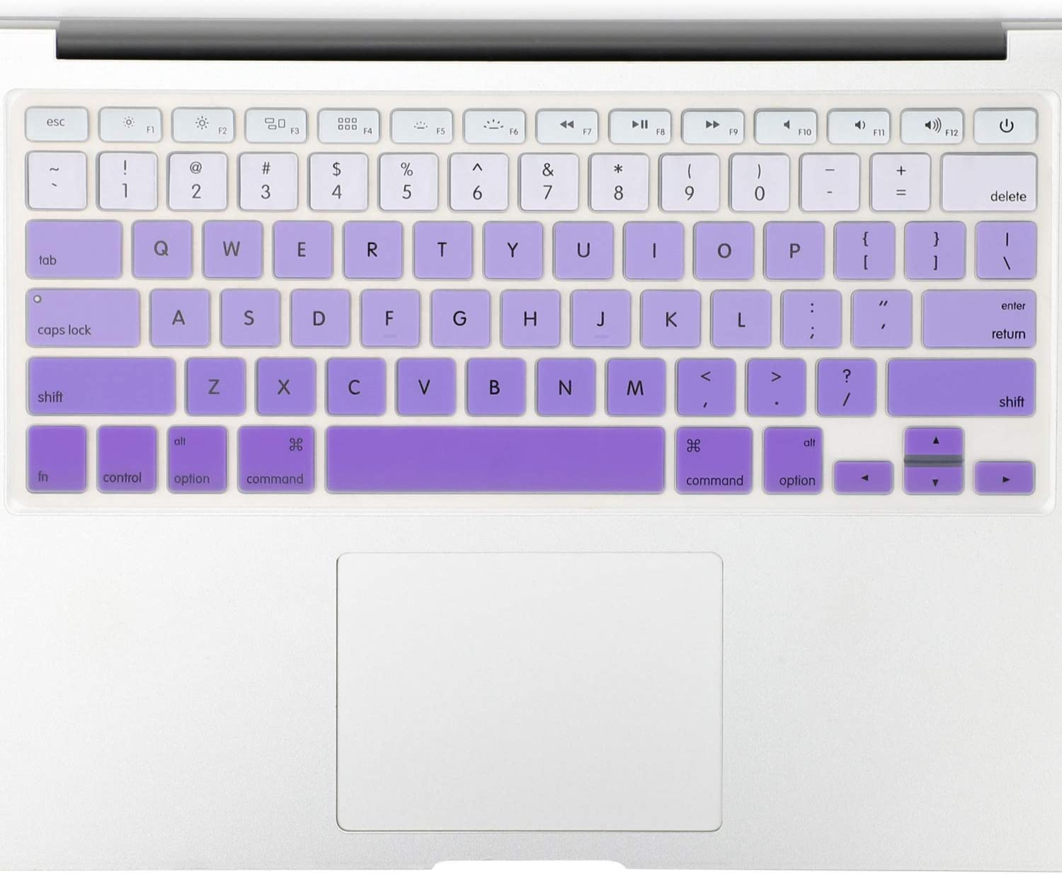 "Allinside Purple Ombre Keyboard Cover Skin for MacBook Pro 13"" 15"" 17"" (2015 or Older Version), MacBook Air 13"" A1369/A1466, Older iMac Wireless Keyboard MC184LL/B"
