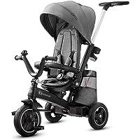 Kinderkraft Triciclo Evolutivo EASYTWIST, Retirable, Asiento Giratorio 360 Grados, 9 Meses a 5 Años, Gris