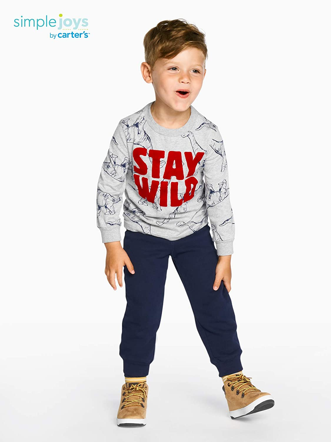 Simple Joys by Carters Toddler Boys 3-Pack Graphic Long-Sleeve Tees