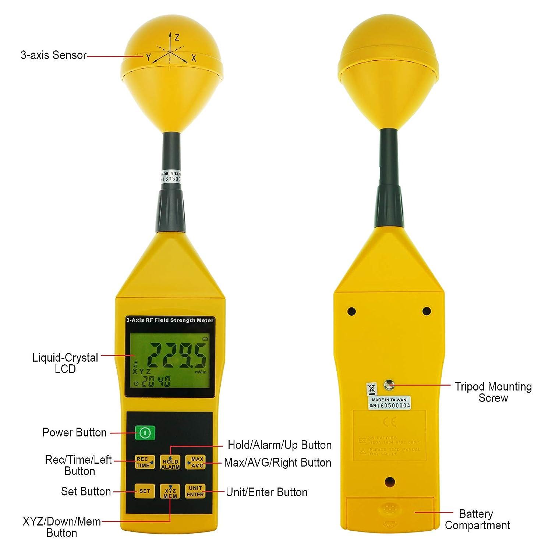 Medidor de fuerza de campo ZRF de 10 MHz a 8 GHz con ...