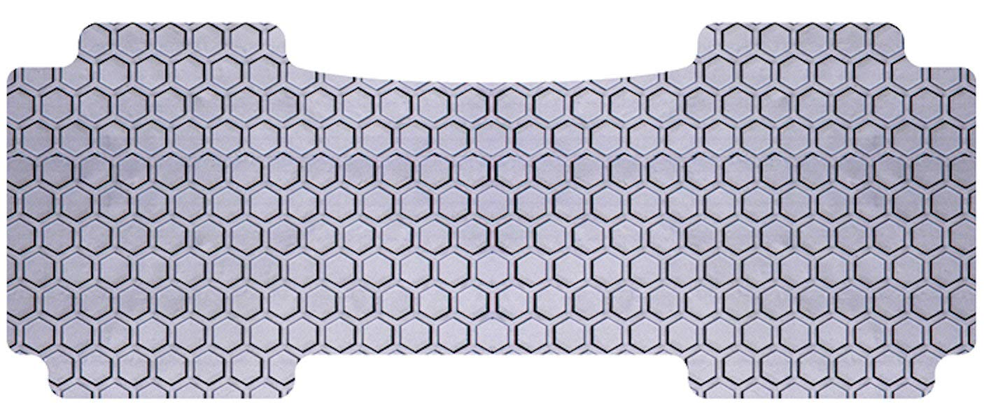 Custom Fit Auto Floor Mat for Select Lexus NX Models Gray Rubber-Like Compound Intro-Tech LX-698-RT-G Hexomat Second Row 1 pc