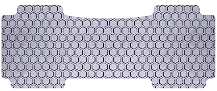 Rubber-Like Compound Custom Fit Auto Floor Mat for Select Infiniti QX70 Models Gray Intro-Tech IN-689-RT-G Hexomat Second Row 1 pc