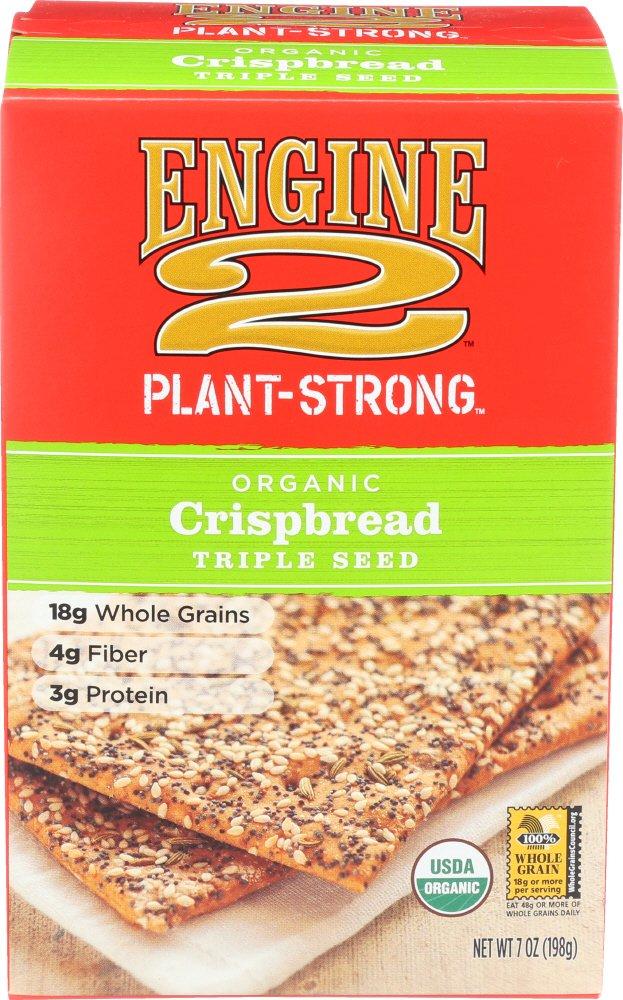 Engine 2, Organic Crispbread Triple Seed, 7 oz by Engine 2