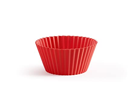 Lékué Base Magdalenas 12 Rojo Molde madalenas, Silicona, 7 cm ...