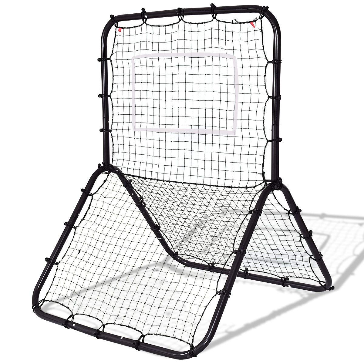 Dayanaprincess Baseball Softball Rebounder Throw Pitch Back Training Net Black Strike Outdoor Sport Game Kids Children Adult Hitting Training Sturdy Durable by Dayanaprincess