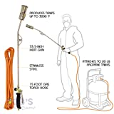 BISupply Heating Torch with 5 Meter Hose - Portable Torch Weed Burner Propane Torch Hose