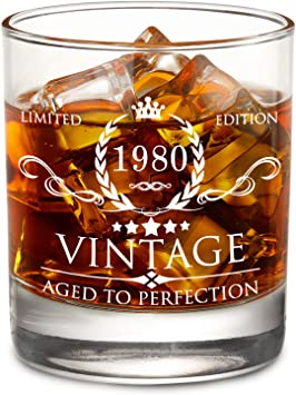 Amazon.com: Vaso de whisky de 40 cumpleaños para hombre y ...