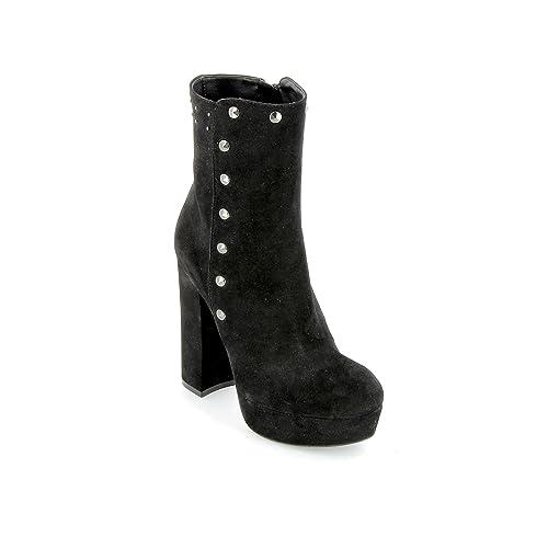 ALESYA by Scarpe&Scarpe - Botines Altos con Tachuelas, de Piel, con Tacones 13 cm: Amazon.es: Zapatos y complementos