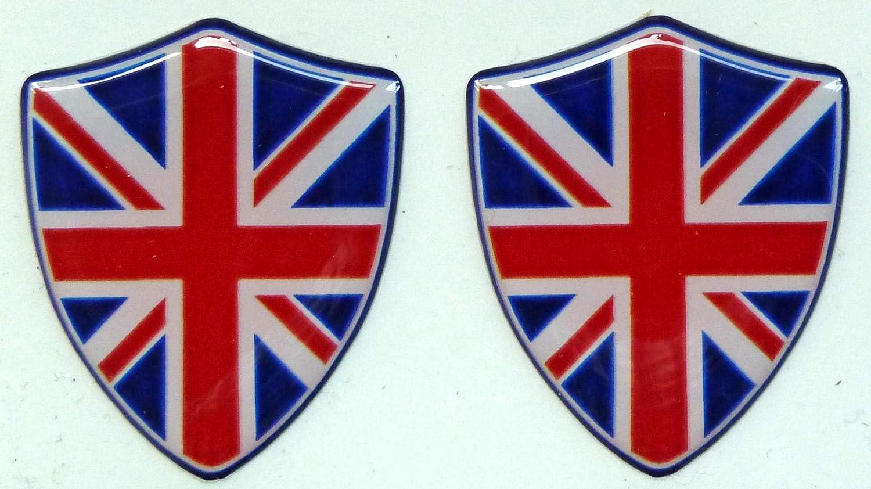 3D Doming Sticker Union Jack blu-rosso Set di 2