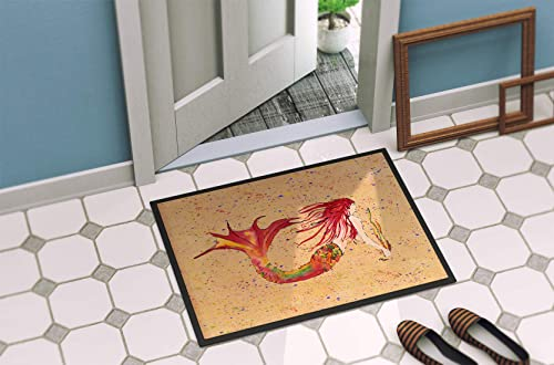 Caroline s Treasures 8339-MAT Mermaid Indoor or Outdoor Mat 18×27 8339 Doormat, 18H X 27W, Multicolor