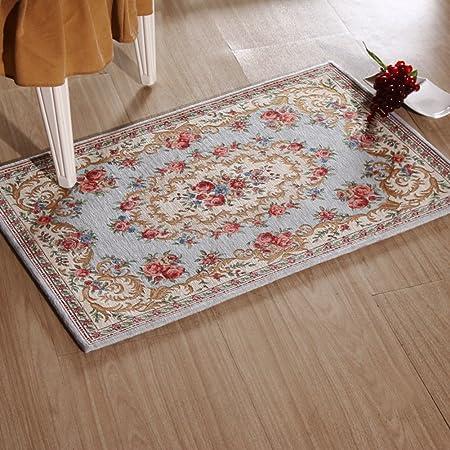 lujoso estilo europeo felpudos Pasillo alfombra de baño recibidor cocina sala puerta corredera puertas puerta mat-L 60x90cm(24x35inch): Amazon.es: Hogar