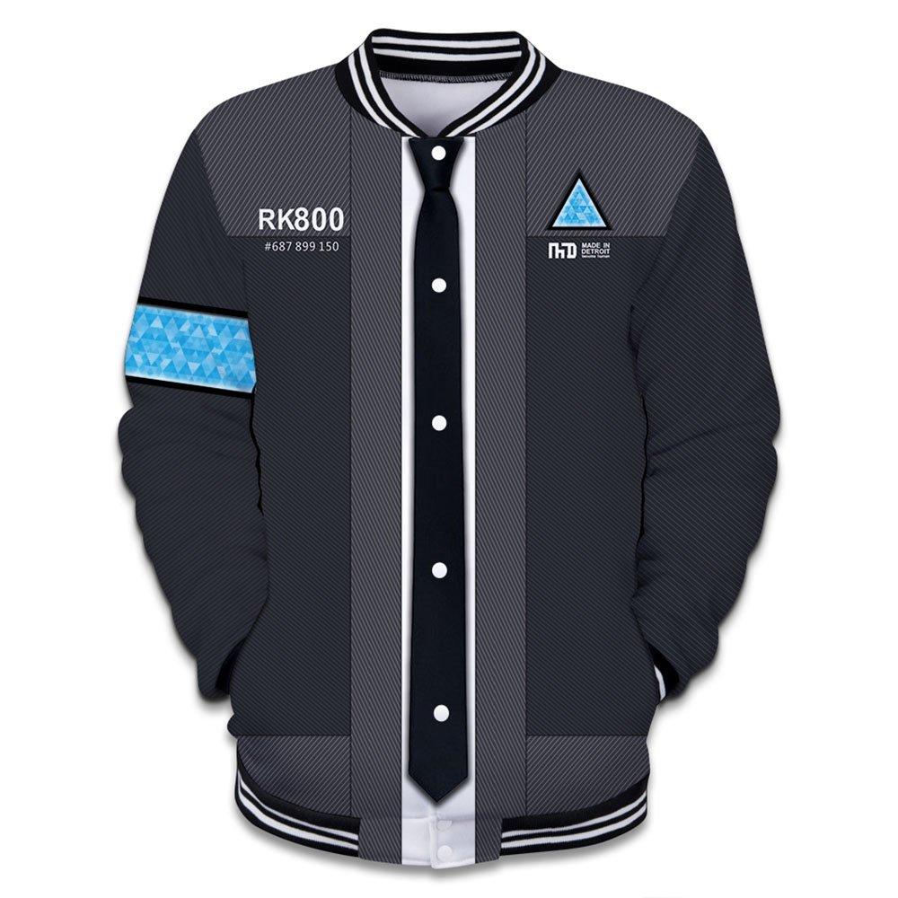 EnjoyYourLife Unisex Detroit Become Human Sudadera con Capucha Unisex Jacket Outerwear Sweatshirt fKZs8B2