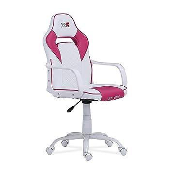 Adec - Gamer, Silla de Oficina gaming, Silla de despacho, estudio o escritorio acabado en símil piel, Medidas: 57 cm (Ancho) x 101-109 cm (Alto) x 60 ...