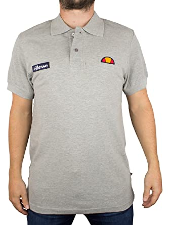 Ellesse Hombre Perugia 59 Polo del logotipo, Gris, X-Large: Amazon ...