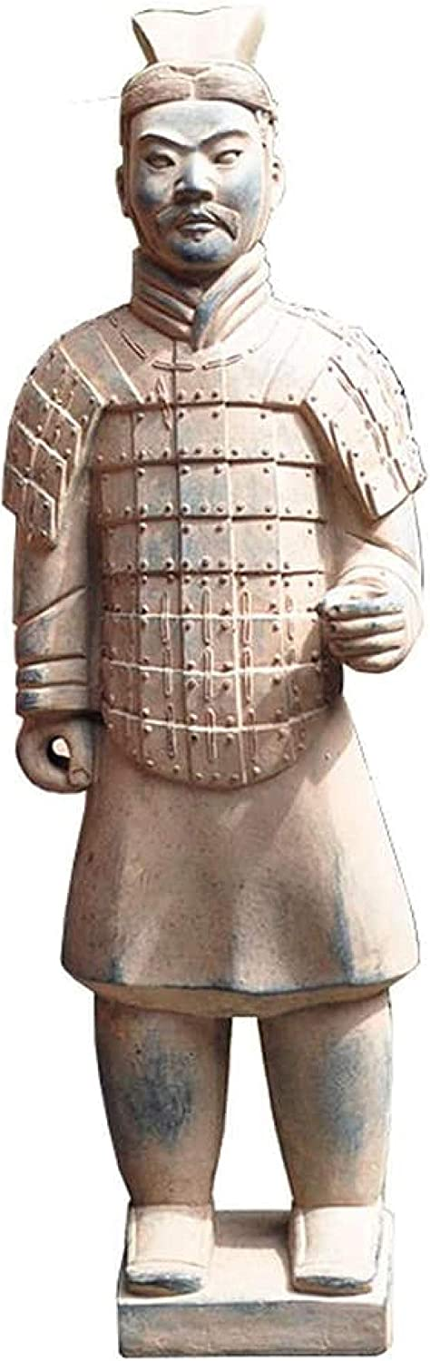 Statues,Terracotta Warrior Statue Garden Ornament Terracotta Army Statue Chinese Terracotta Warriors The Large Standing Terracotta Army
