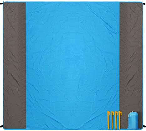 Foldable Beach Blanket Quick Drying Outdoor Camping Tent Waterproof Picnic Mat