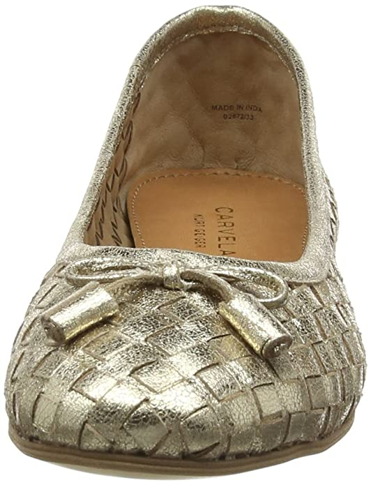 4bd975814 Carvela Women's LUGGAGE Ballet Flats, Gold), 6 UK: Amazon.co.uk: Shoes &  Bags