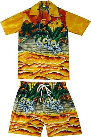 Original King kameha | Funky Hawaii Camisa y pantalones | 2 ...