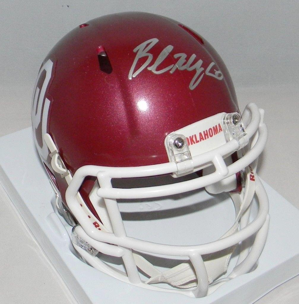 96719edaf Amazon.com  Baker Mayfield Autographed Signed Ou Oklahoma Sooners Speed  Mini Helmet - JSA Certified - Autographed College Mini Helmets  Sports  Collectibles