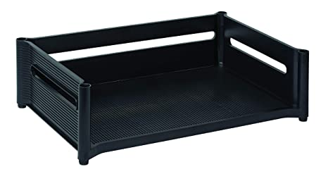 Fantastic Rubbermaid 18041 Mega Stackable Add On Tray 19W X 12 7 8D X 5 3 4H Ebony Home Interior And Landscaping Transignezvosmurscom