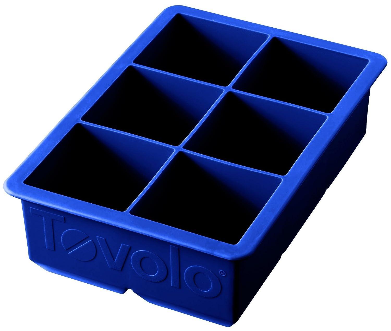 Tovolo King Cube Ice Tray, Stratus blau