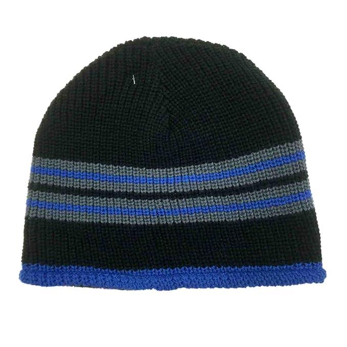 b9740546f Amazon.com: Ben Berger Boys Reversible Blue Black Knit Beanie Cammo ...