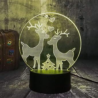 Nuevo Encantador Dos Estimados Wapiti Moose Elk Feliz Navidad RGB ...