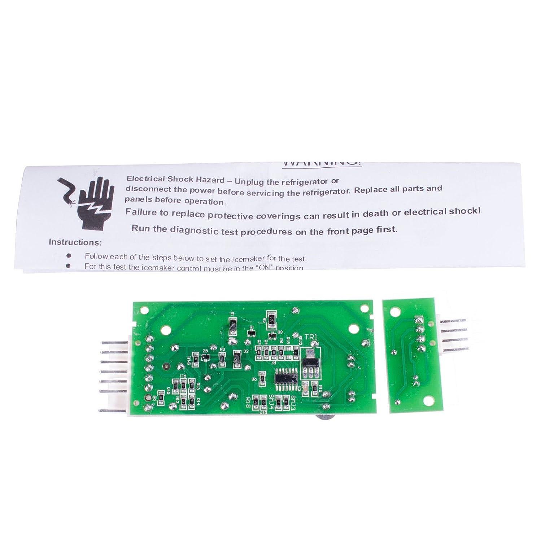 Siwdoy 4389102 for Whirlpool Icemaker Emitter Sensor Control Board W10757851 AP5956767