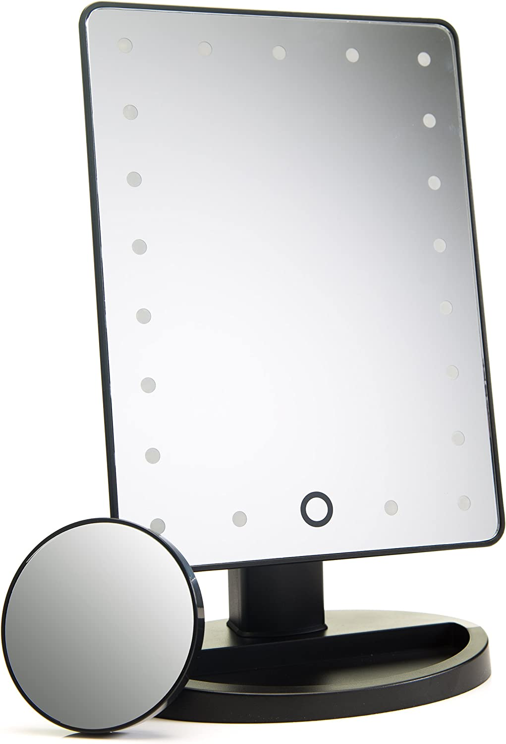 Absolutely Luvly Lighted Makeup Mirror with Magnification Vanity Mirror with Lights -Touch Screen Dimming -Small Detachable 10x Magnifying Makeup Mirror -Portable Makeup Accessories Make Up Mirror