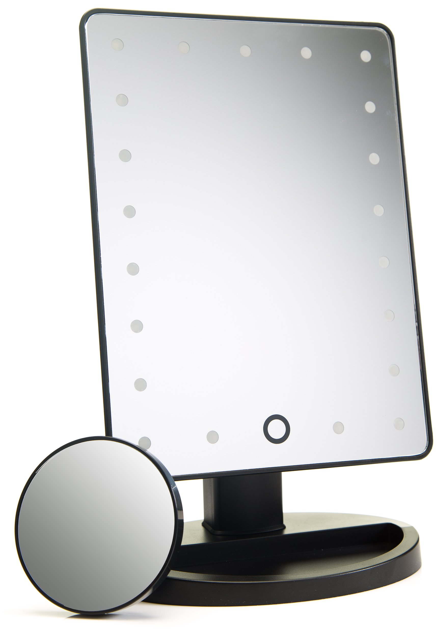 Natural Daylight Lighted Makeup Mirror / Vanity Mirror with Touch Screen Dimming, Detachable 10X Magnification Spot Mirror, Portable Convenience and High Definition Clarity Cosmetic Mirror by Absolutely Lush