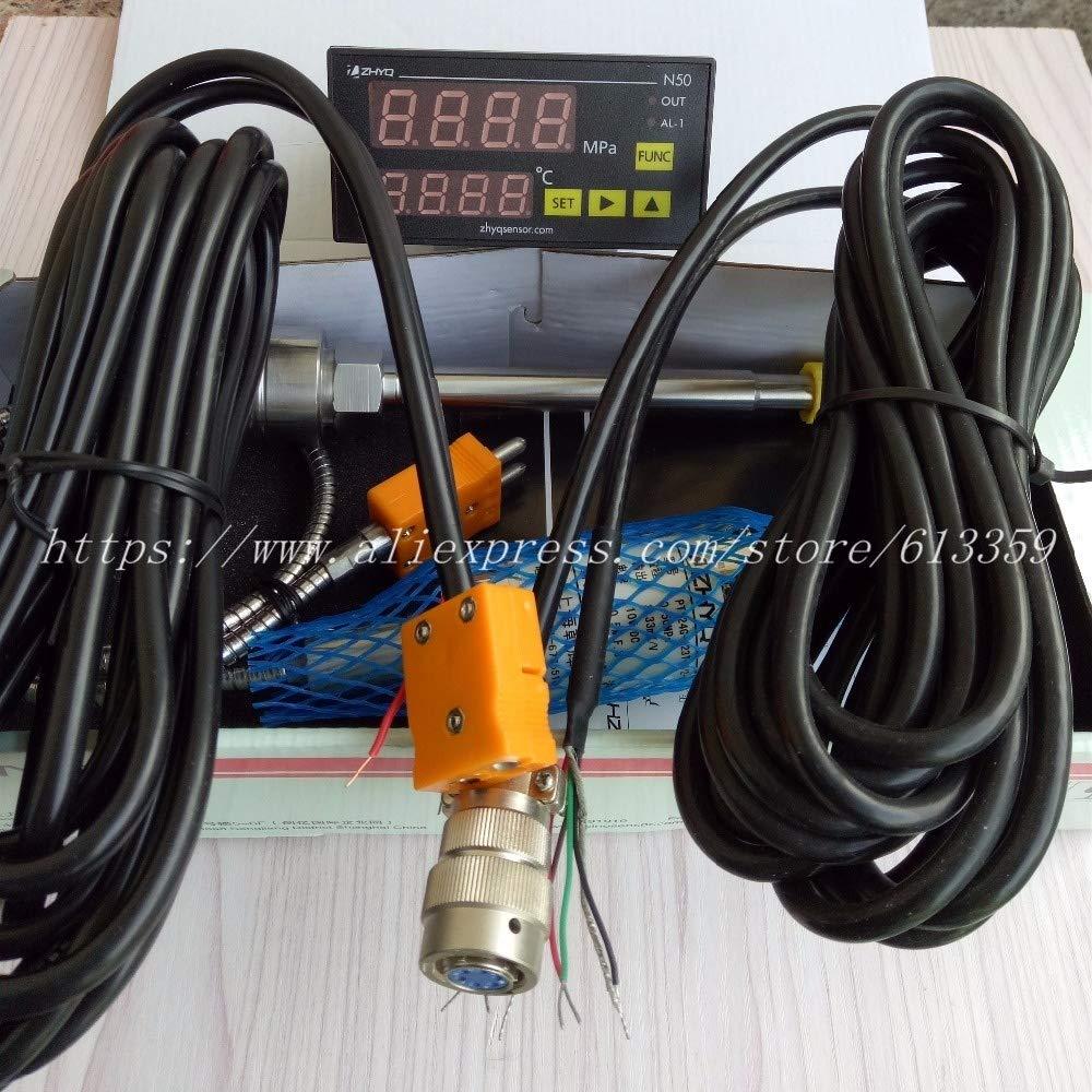 XSHD ZHYQ PT124G-123T圧力で溶融圧力トランスデューサ6ピン50Mpa出力3.33 MV / Vおよび温度インジケータN60 / N50 / N10 (Color : Silver)