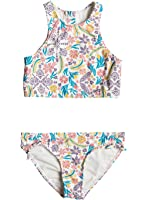 Roxy Big Girls' California Diary Crop Top Swimsuit Set