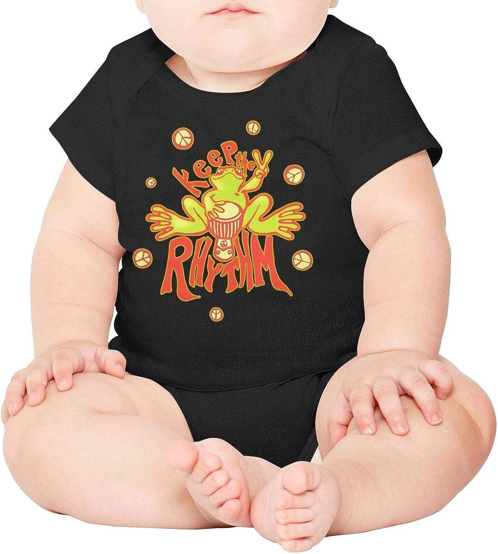 Baby Onesies Keep The Rhythm Peace 100/% Cotton Newborn Baby Clothes Comfortable Short Sleeve Bodysuit