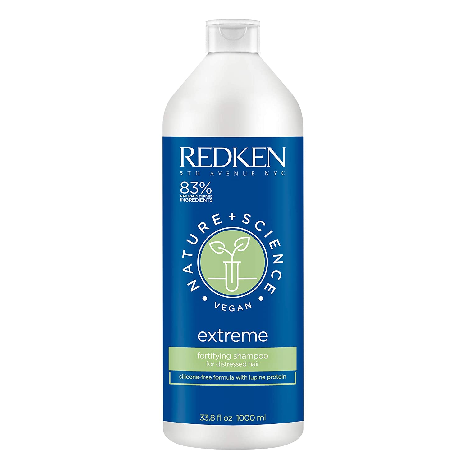 Redken Nature + Science Extreme Fortifying Shampoo | For Distressed Hair | Moisturizes & Strengthens To Prevent Split Ends | Infused With Proteins | Vegan
