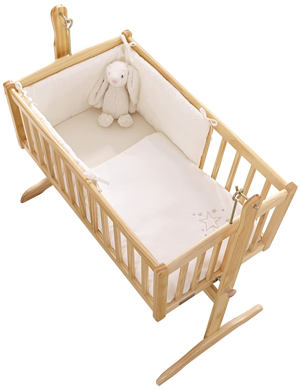 Clair de Lune Starburst Crib/Cradle Quilt and Bumper Set, Cream CL4801CM